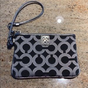 Adorable black and silver wristlet!!